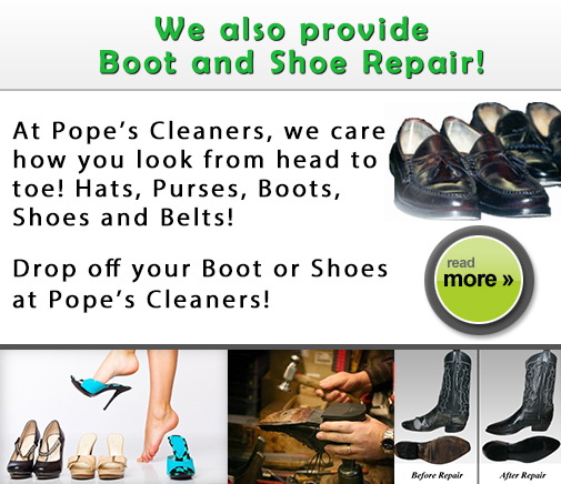 Now offering shoe, boot and belt repair